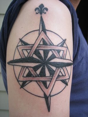 ... Star of David & Fleur de Lis TATTOO and wrote the following