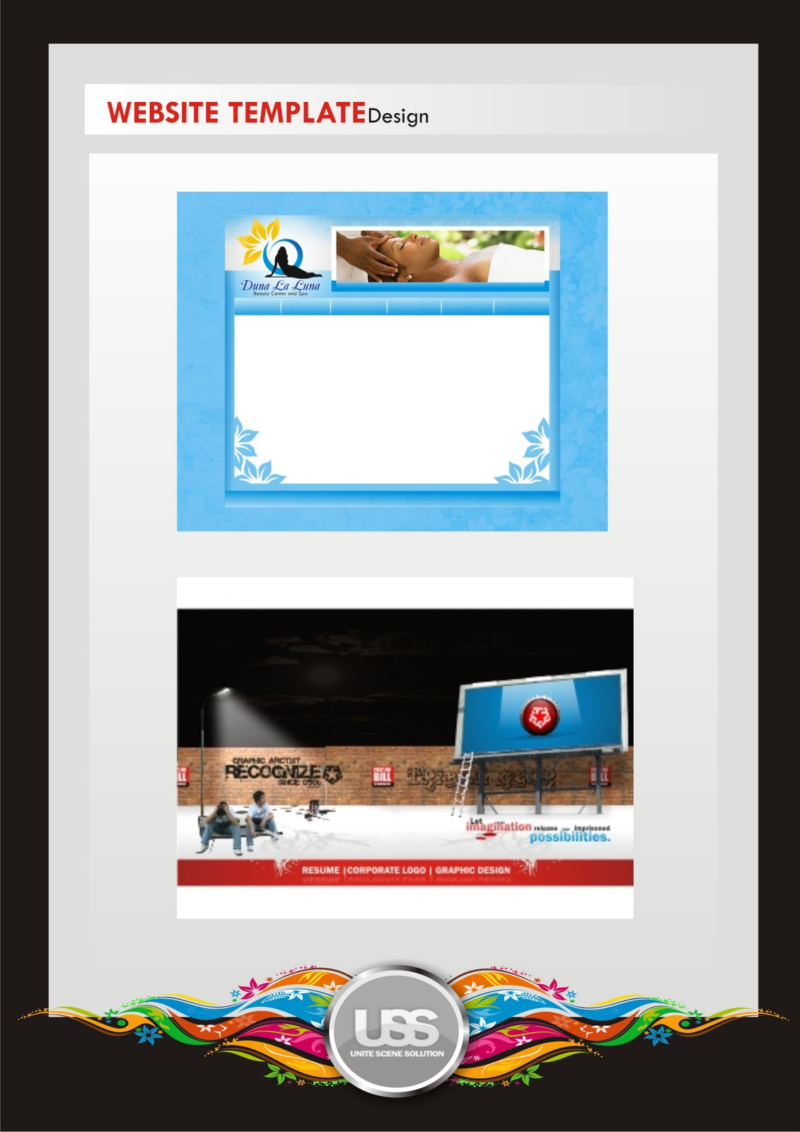 Great Web Gallery Template PSD