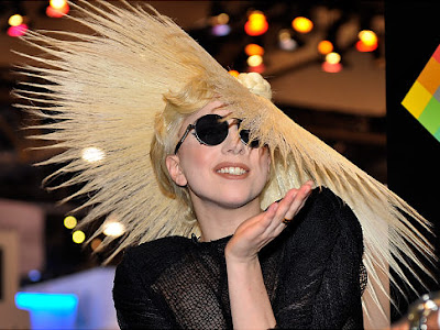 Lady Gaga Telephone Hat. On Thursday Lady Gaga unveiled