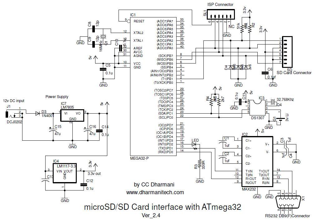SD Card Schematic http://www.dharmanitech.com/