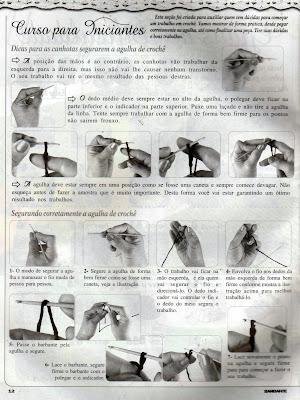 tutorial passo a passo de como fazer croche e como segurar a agulha