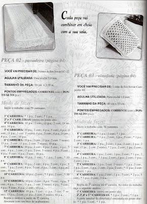 RECEITA DE TAPETE E ALMODADA DE CROCHE