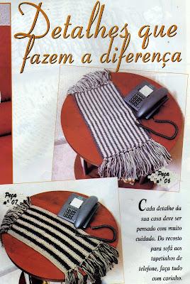 TAPETINHOS PARA TELEFONE EM CROCHE