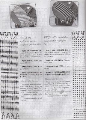 RECEITAS DE TAPETINHOS PARA TELEFONES EM CROCHE