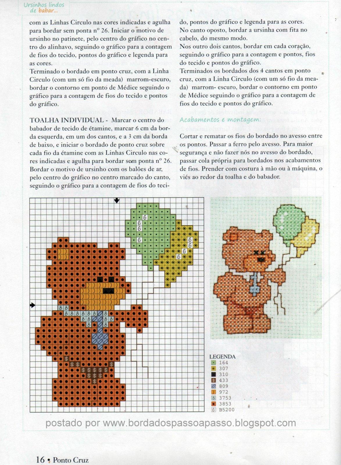 Graficos De Ursos Em Ponto Cruz