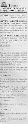 RECEITAS DE TAPETE E ALMOFADA EM CROCHE JACQUARD