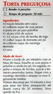 RECEITA DE TORTA DE MAÇÃ FÁCIL