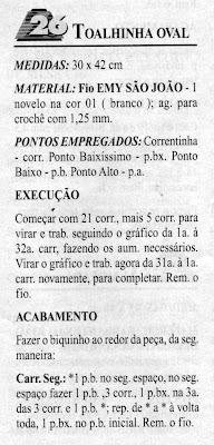 RECEITA DE TOALHINHA OVAL EM CROCHE FILE