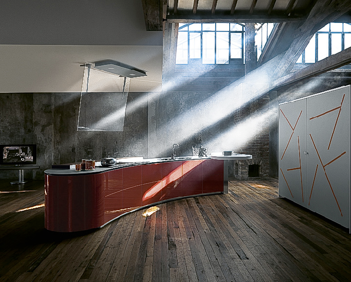 Curvalinear Collaborative Kitchens - La Cucina Alessi.Celebrity ...