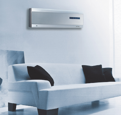 LG LAN096HNP - 9,900 BTU Art Cool Ductless Single Zone Air Conditioner/Heat Pump (Indoor Unit) - The slim, contemporary styling of the Art Cool models will appeal to
