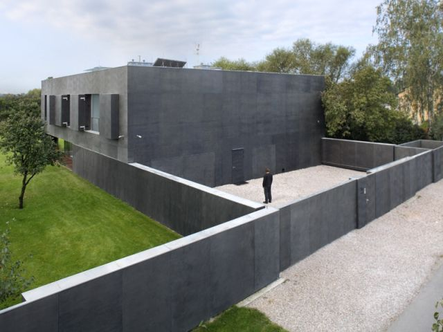 The Safe House In Poland Is A Modern Fortress With Sliding Walls.