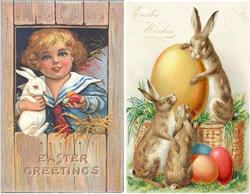 Countless Victorian Easter Cards And Vintage German Engraved Can Still Be Found At Many Flea Markets Antique Stores Like The Ones Shown