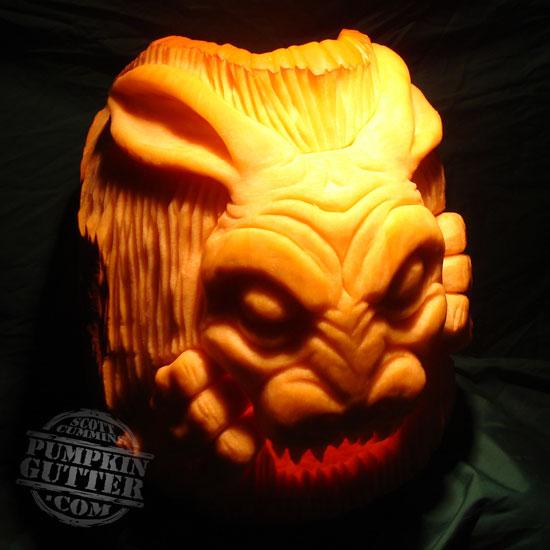 Scott cummins doesn t carve pumpkins he sculpts them if