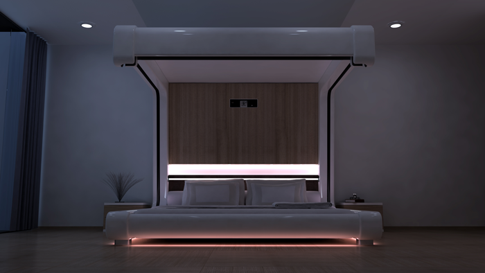 Somnus-Neu is an evolution of the idea of technology convergence and  high design, bringing together into one space, comfort, design,  connectivity, audio, ...
