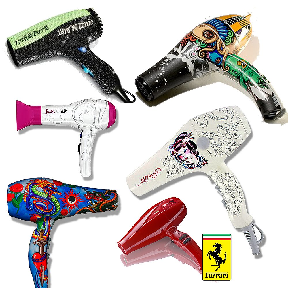 Hair dryers that will blow your mind from ferrari 2much barbie ed hardy and more if it 39 s - Unusual uses for a hair dryer ...