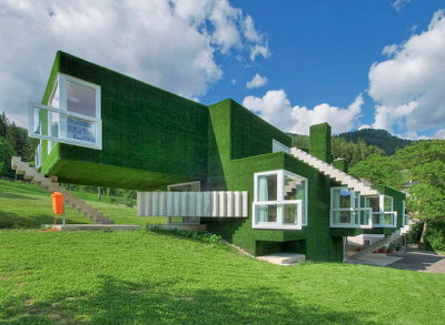 Crazy Astroturf Covered Concrete House In Austria Seen On www.coolpicturegallery.us