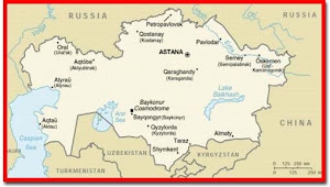 petropavlovsk is the northernmost city shown on the kazakhstan map right near the russian boarder