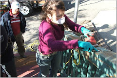 Mommy with Power Tools at a Service Project!