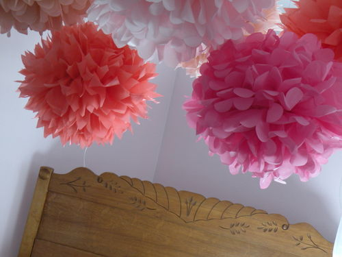 tissue paper flowers and baby showers