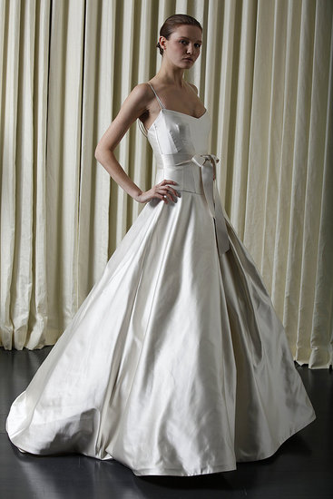 Silver wedding dress simple Consists of two parts namely superiors and