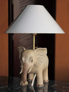 Antique Elephant Lamp