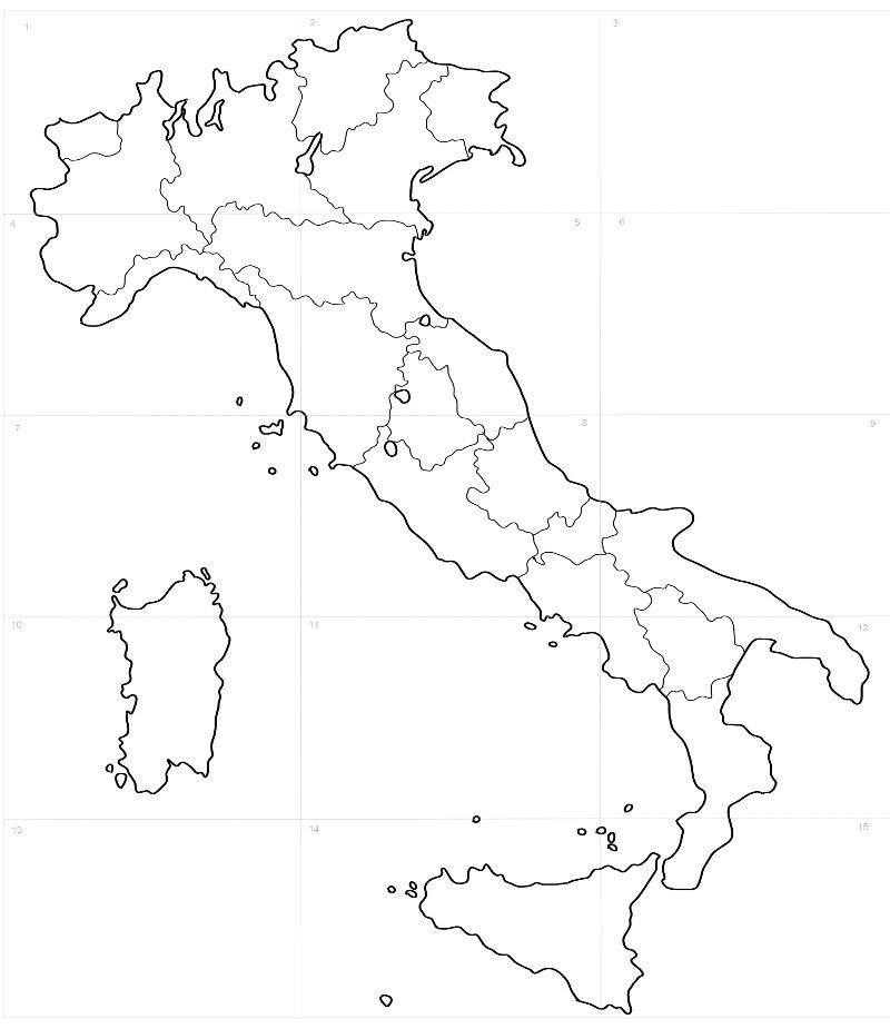 Cartina Geografica Italia In Bianco E Nero Pieterduisenberg
