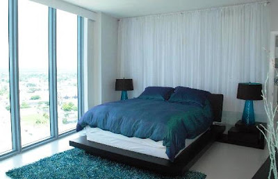 Modern Design Blue Home Decorating Interior | Bedroom Design Ideas