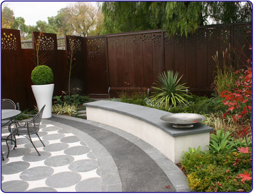 Architecture decorating small patio designs by stone for Terrace landscape design