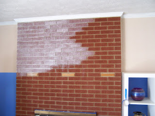 Staining Brick Fireplace Submited Images Pic2Fly