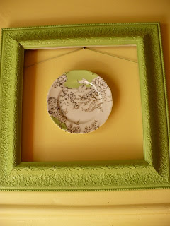 plate with a frame around it