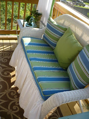 faux wicker loveseat