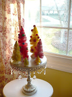 My Dyed Bottle Brush Trees