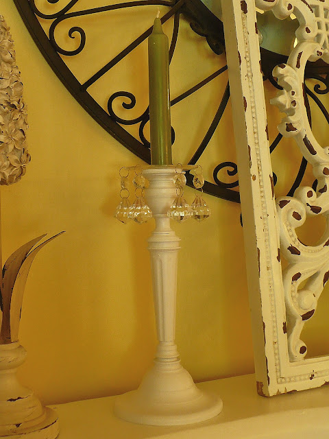 spray painted brass candelholders