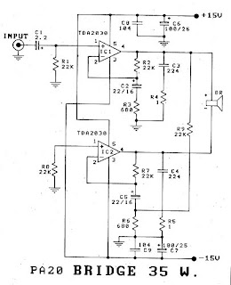 Bridged Amplifier Diagram.