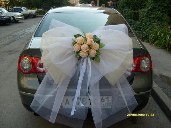 Украшения для машины свадьба своими руками