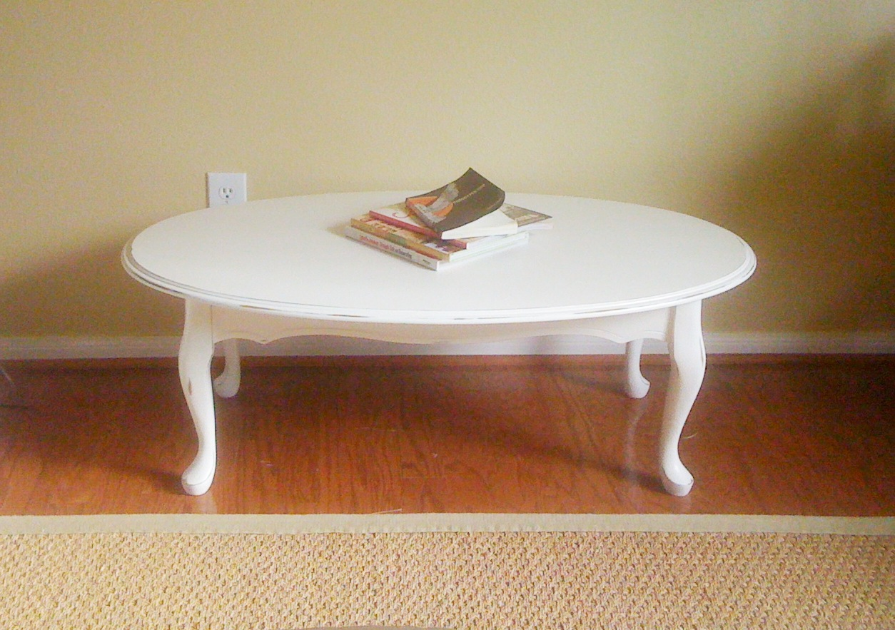 White Oval Coffee Table Saving Grace December 2010