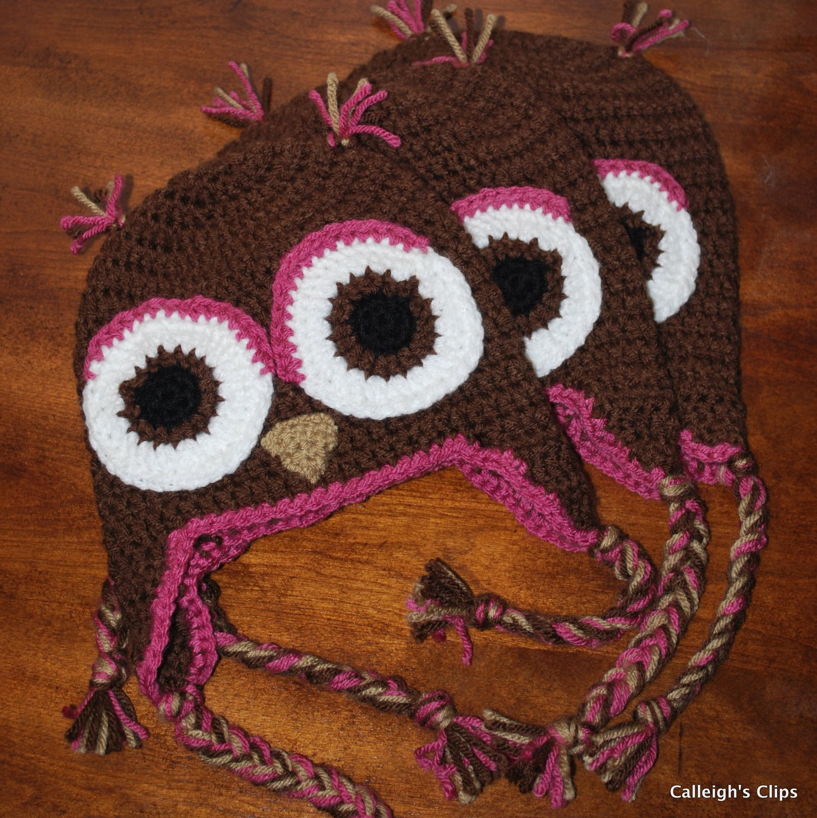 Crochet Owl Hat : ... Clips & Crochet Creations: Whoo doesnt love this owl earflap hat