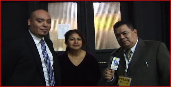 El senor Oscar Cuellar, la Sra Carmen Organisadores del Evento el Senor de los milagros,Mario Ramos