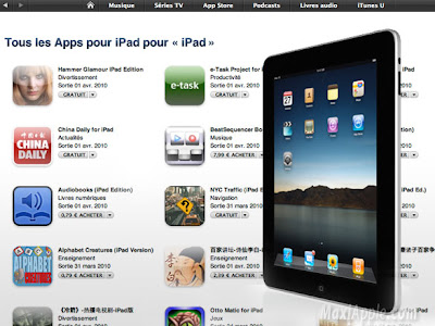 ipad appstore  iPad : 1770 Applications et Jeux Disponibles dès 0,79 €