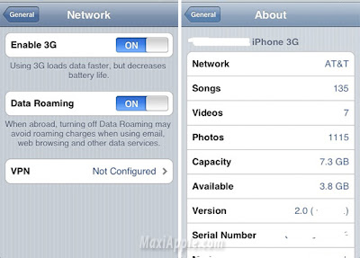 ip3gb iPhone 3G : Premieres Images des Menus