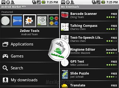 androidmarket1 Un AppStore pour Google Android (video et photos)