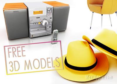 3dmodels1 13000 Models 3D (gratuit)