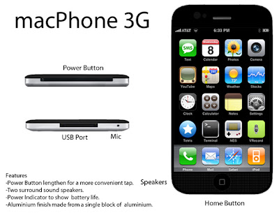 macphone 02 macPhone 3G : Excellent Concept iPhone (images)