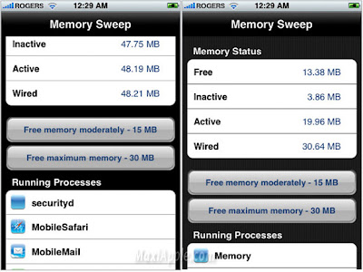 memory sweep iphone Memory Sweep iPhone : Liberez la Memoire (gratuit)
