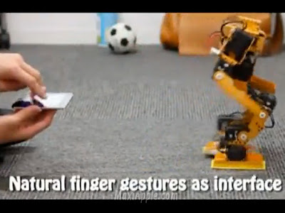 finguer robot iphone Robot Pilot avec un iPhone : Bluffant (video)