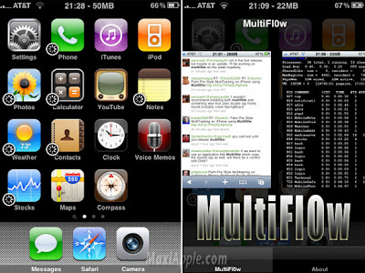 multifl0w iphone MultiFl0w iPhone : Application MultiTache Dispo (video)