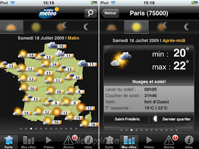 chaine meteo iphone 1 LA CHAINE METEO iPhone : Previsions Meteo ...