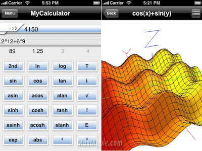 mycalculator iphone MyCalculator iPhone : Mathematiques en 3D (gratuit)