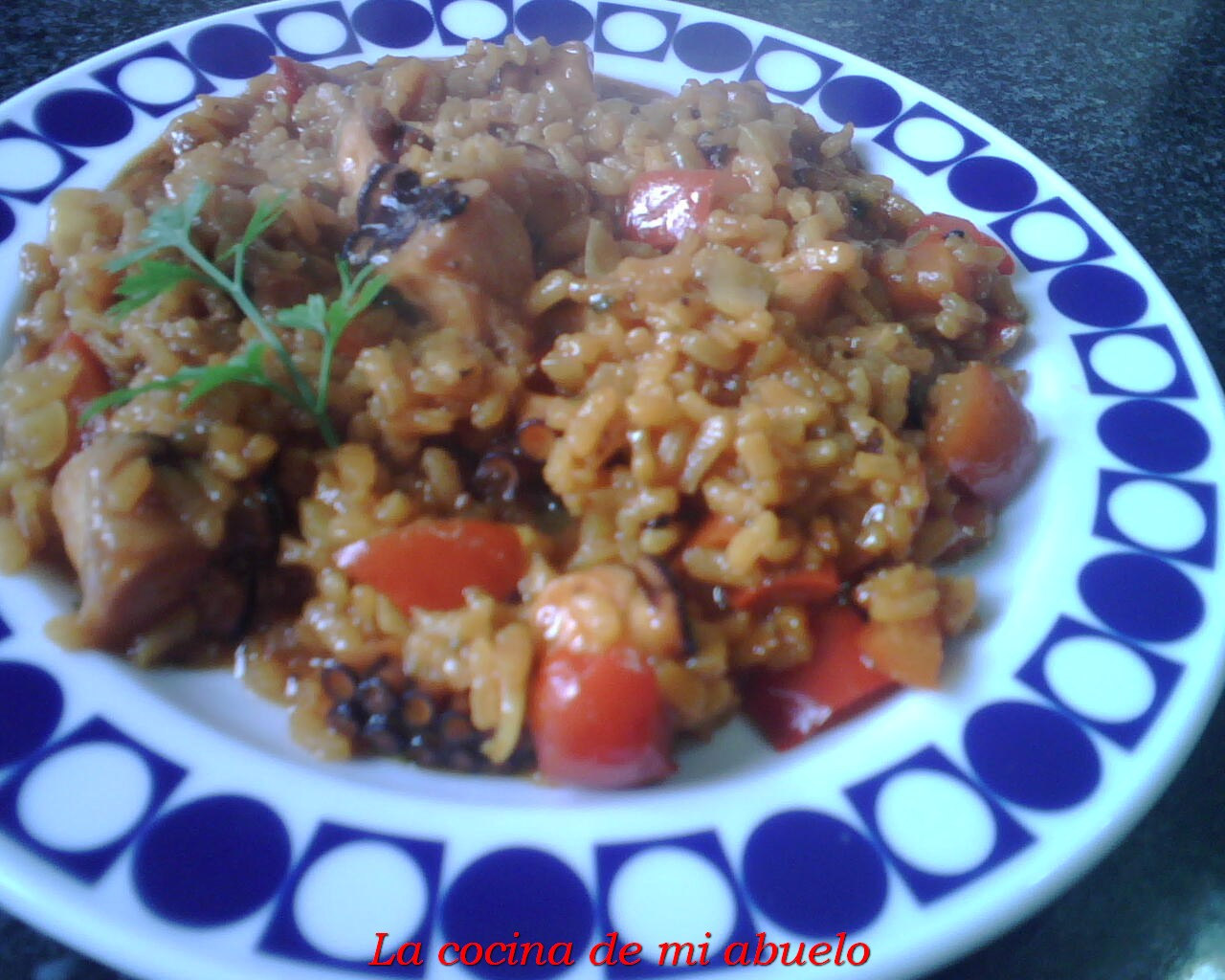 Pulpo con arroz al estilo de Merchi