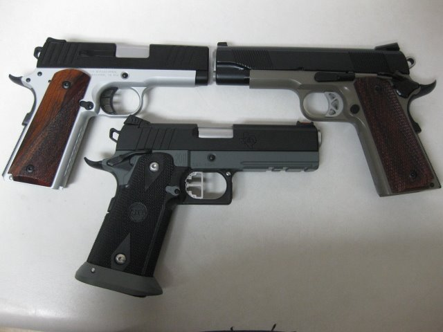 3 2-tone 1911 and 2011 pistol combos
